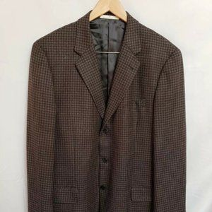 Joseph Abboud Brown 100% Wool Sport Coat 42S